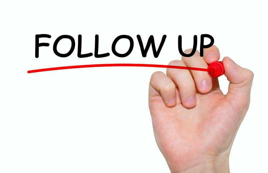 Take follow up