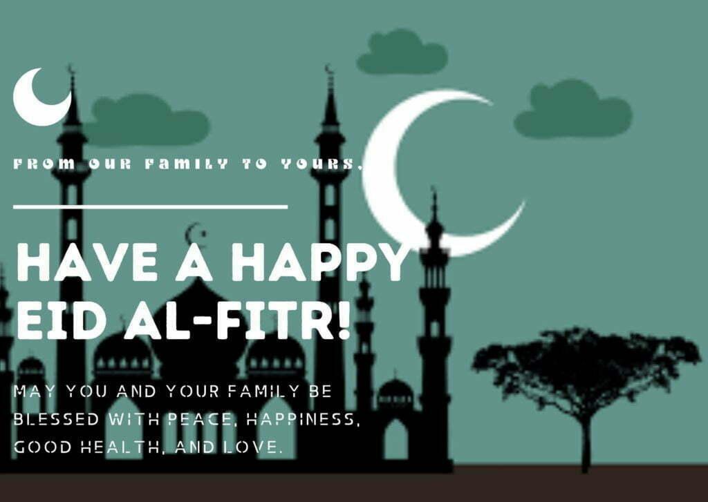 Dark Sky Simple Eid al Fitr Card1